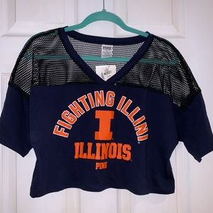 PINK Illinois Cropped Top - NWT